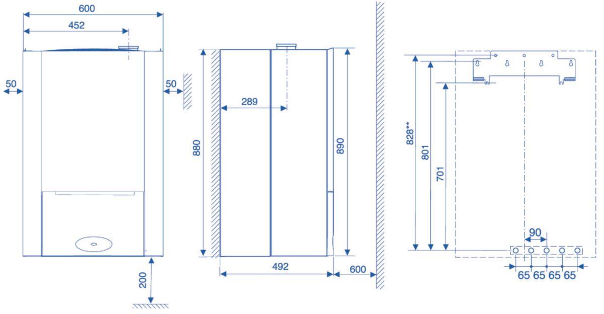 elm leblanc chaudi re murale gaz egalis condensation avec ballon int gr de 48 l sortie. Black Bedroom Furniture Sets. Home Design Ideas