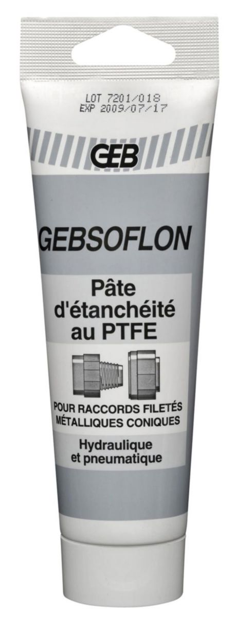 Pâte à joint GEBSOFLON tube 125ml réf 114520