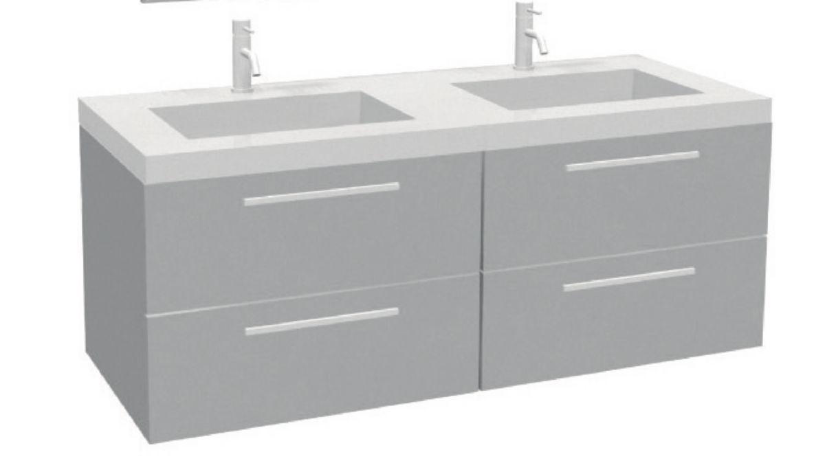 meuble vasque 120 meuble salle de bain double vasques cm blanc brillant poser au with meuble. Black Bedroom Furniture Sets. Home Design Ideas