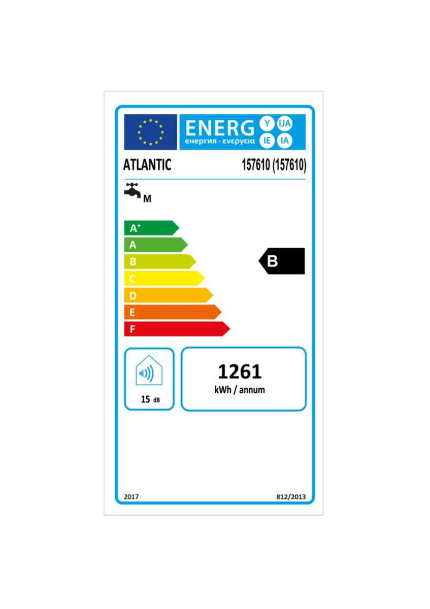 Chauffe-eau électrique à résistance stéatite Lineo connecté vertical gris aluminium 100 l réf. 157610