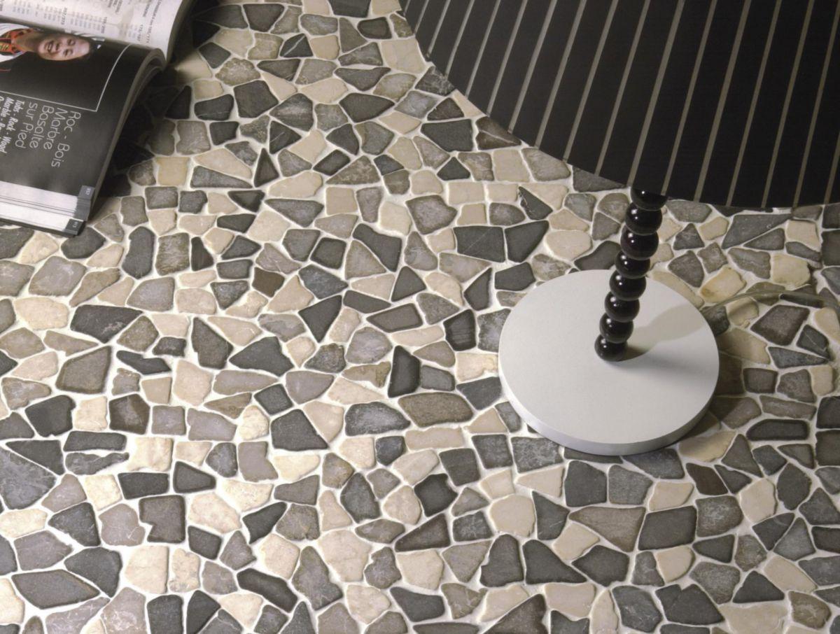 Mosaïque Sol Intérieur Marbre Palladiane MAMI11   Blanc/gris   Plaque 30x30  Cm   BATI ORIENT IMPORT   Carrelage  CEDEO