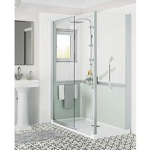Cabine de douche Kinemagic 6 170x80 angle coulissant bas transparent serenite thermo réf K61708ABCTN3GSK