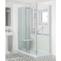 Cabine de douche Kinemagic 6 160x70 angle solo mixte transparent serenite thermo réf K61607AMSTN3GSL
