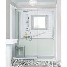 Cabine de douche Kinemagic 6 160x70 niche coulissant mixte transparent serenite thermo réf K61607NMCTN3GSO