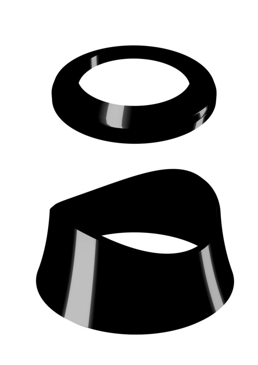NERS2 Cornat NERS2 Black Edition Robinet thermostatique en laiton noir mat avec poign/ée de s/élection de temp/érature et syst/ème de verrouillage deau chaude Noir mat