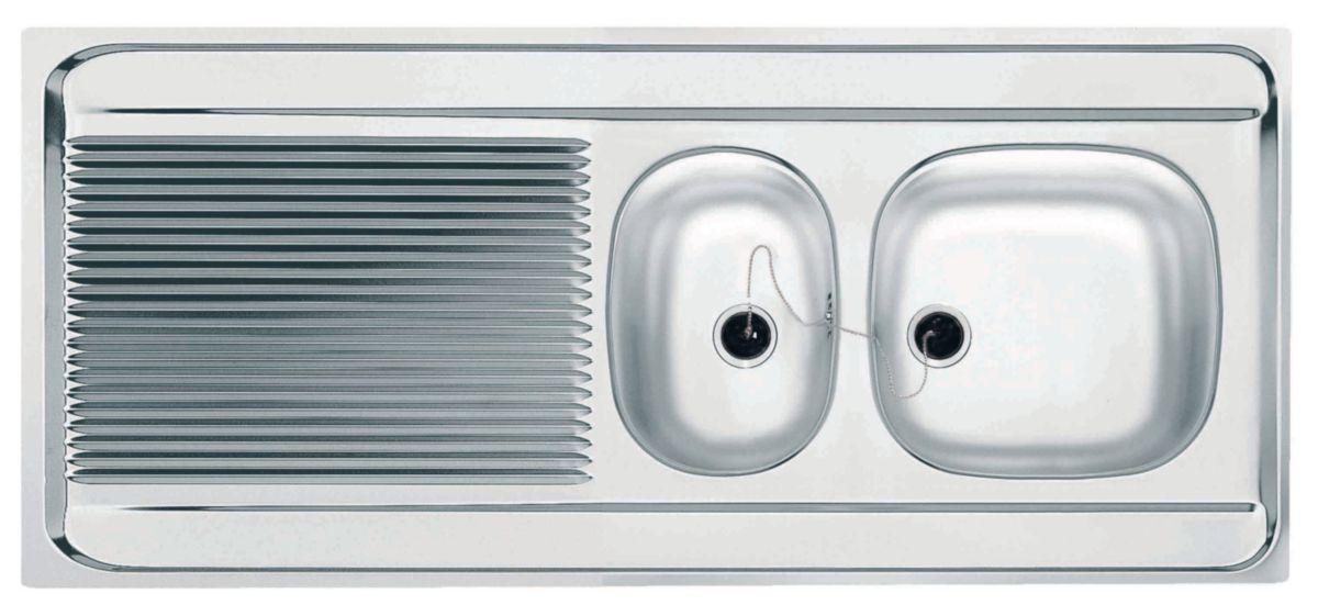 Evier A Poser Spit Stx751 140x60 Cm Pour Lave Vaisselle 1 Cuve Et