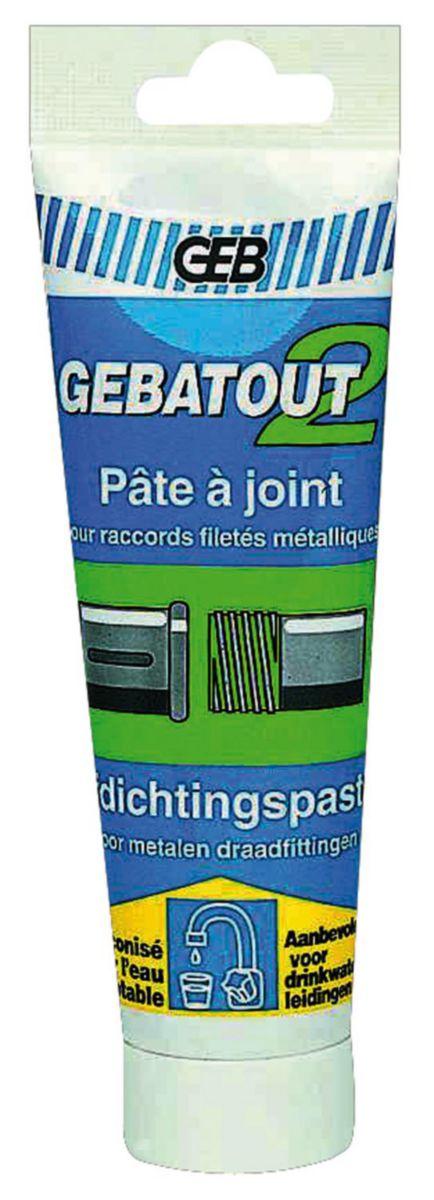 Pâte à joint GEBATOUT 2 tube pegboardable 125ml réf 103981