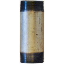 Mamelon 530 tube soudé filetage conique longueur 150mm galva D12x17 réf 530012150G