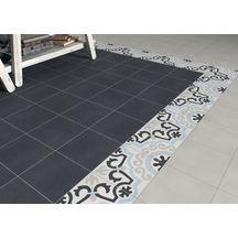 Carreau sol intérieur ciment CIMI21 - décor classique gris clair/bleu/blanc cassé/anthracite - 20x20 cm