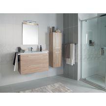 Faïence Arte Home Guimauve blanc brillant décor 19,8x59,8cm K085350