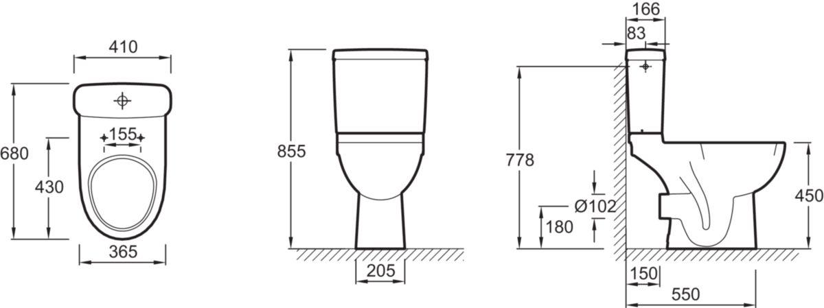 jacob delafon pack wc odeon up sur lev 68 x 36 5 cm. Black Bedroom Furniture Sets. Home Design Ideas