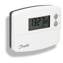 Thermostat programmable 5+2 jours � pile bo�te blanche R�f 087N791001
