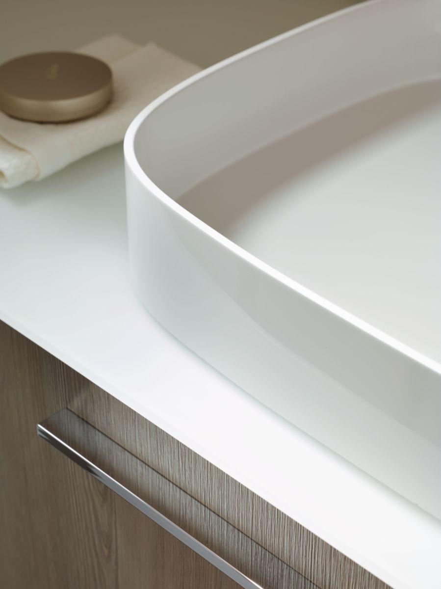 Vasque à poser SANA en pierre de synthèse réf. MBA0060