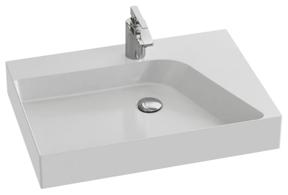Vasque à poser RYTHMIK PURE 65 x 46 cm cuve gauche Réf. EVN112-00