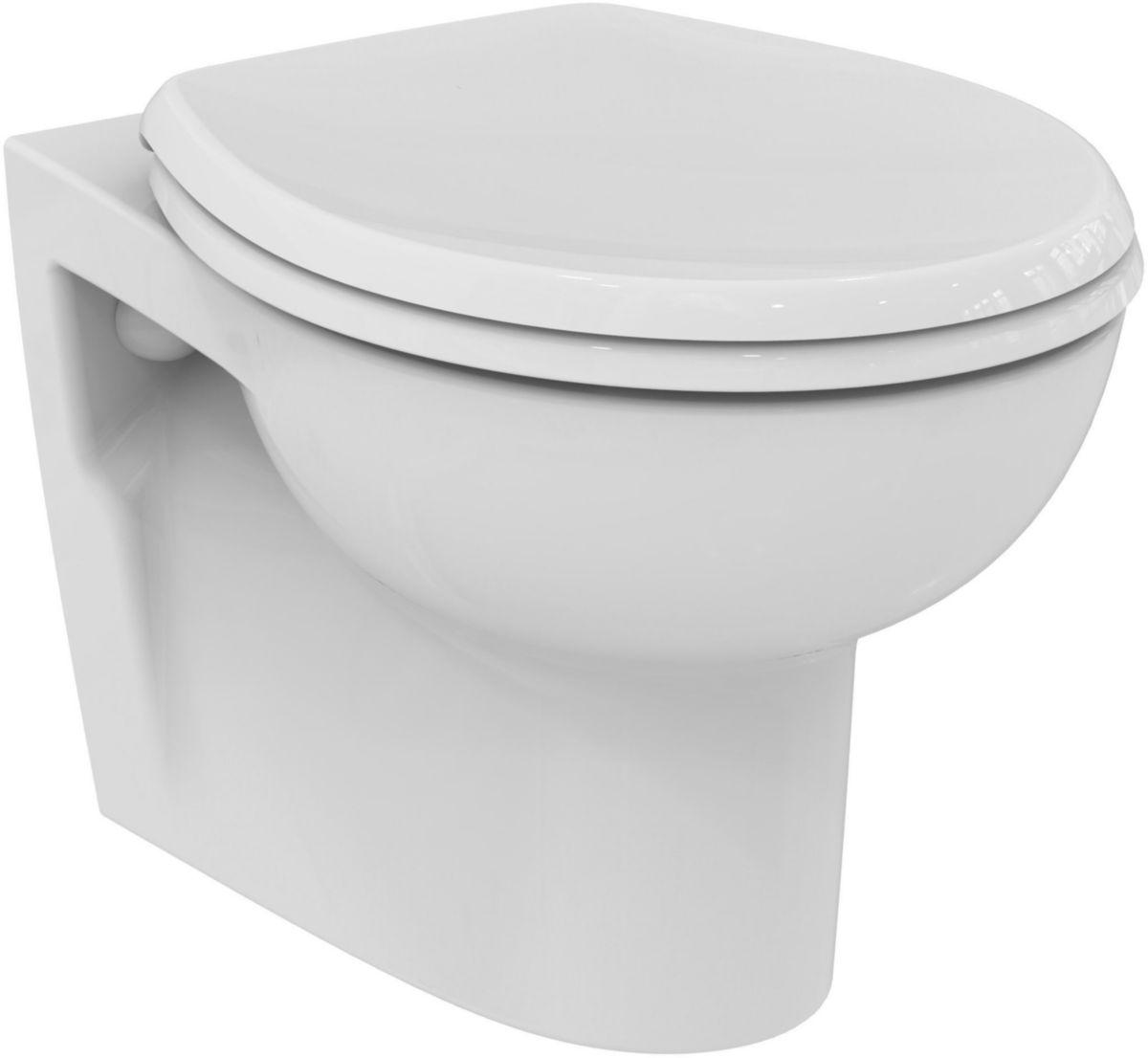 porcher pack wc suspendu hercule avec abattant standard blanc r f e300501 cedeo. Black Bedroom Furniture Sets. Home Design Ideas