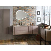 Meuble salle de bain NOUVELLE VAGUE chêne tranché 152 cm