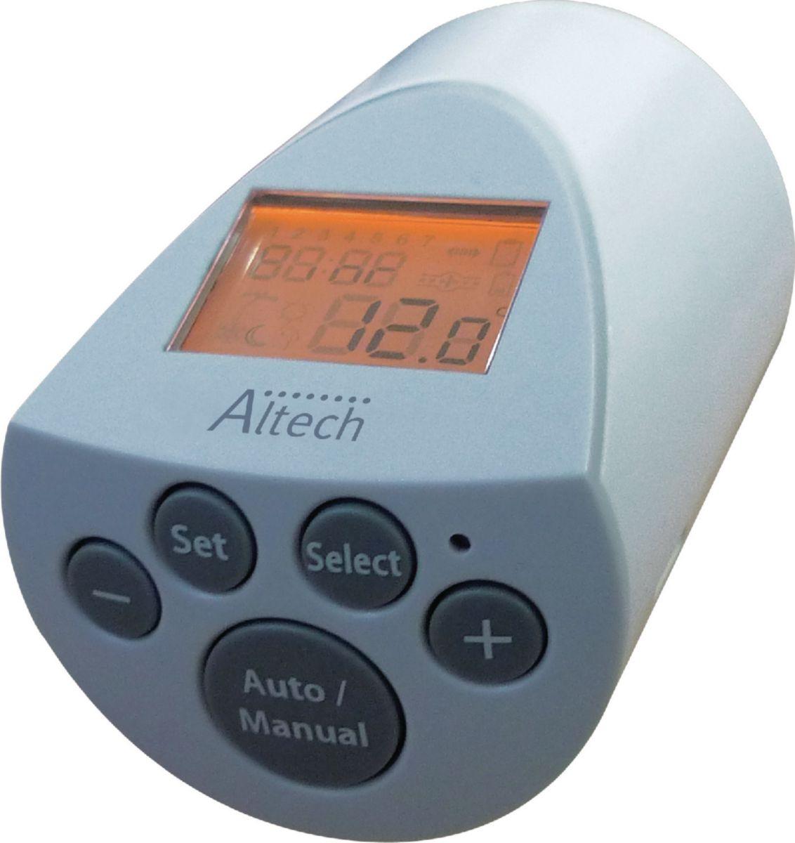 tête thermostatique électronique programmable réf althc060 ... - Robinet Thermostatique Pour Radiateur Fonte