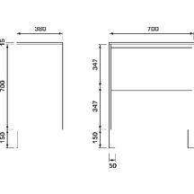 meuble sous vasque plenitude 70 cm 2 tiroirs p38 blanc bois alterna sanitaire cedeo. Black Bedroom Furniture Sets. Home Design Ideas
