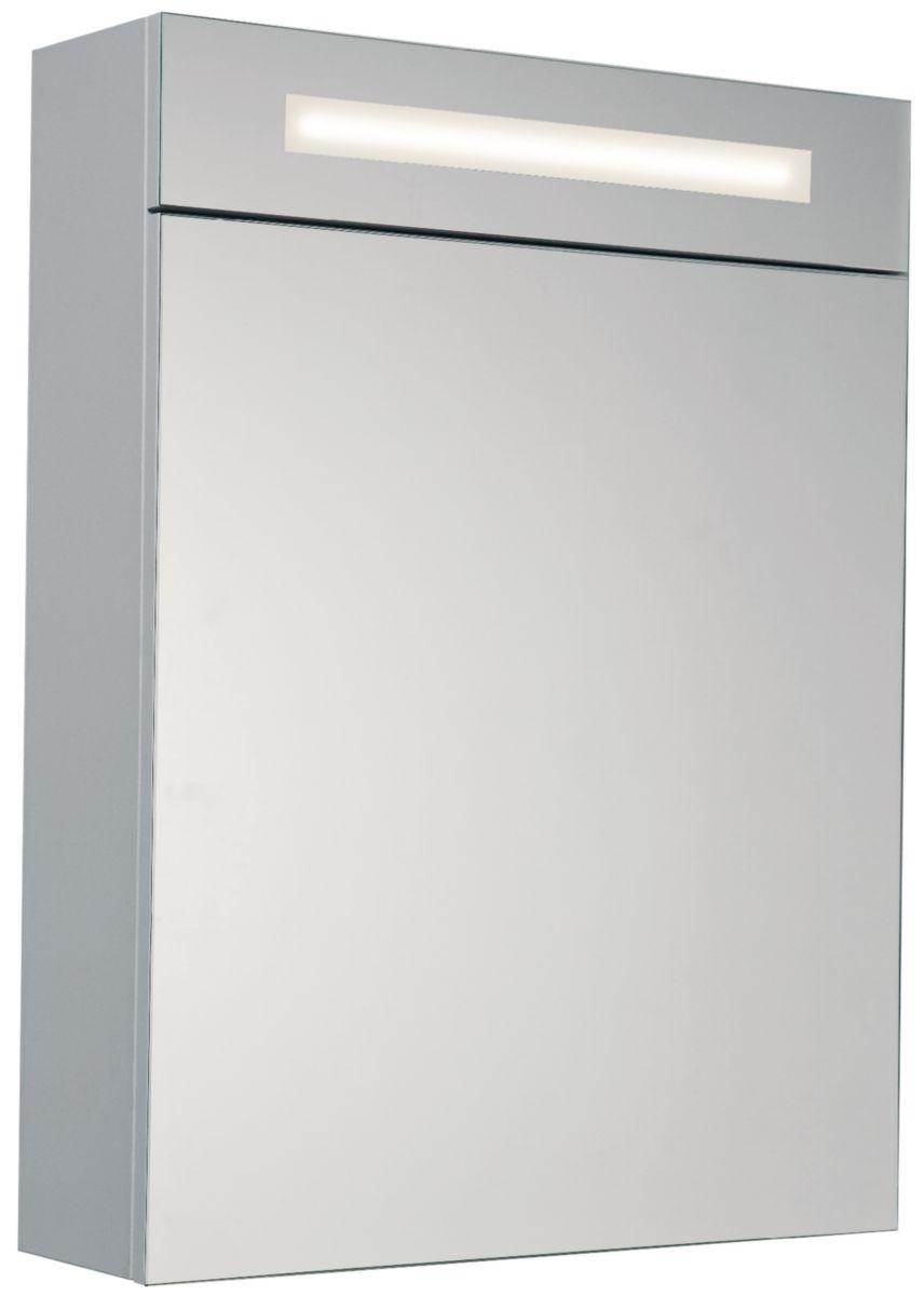 Baignoire dangle sur estrade - Armoire de toilette 1 porte avec miroir ...