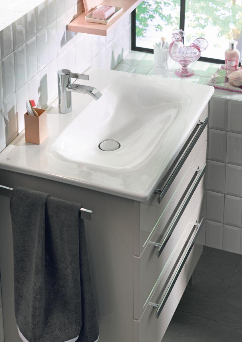 vasque a poser grise 2 Ensemble avec plan de toilette ESSENTO L 750 en céramique + meuble sous- vasque avec ...