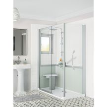 Cabine de douche Kinemagic 6 160x80 angle solo bas transparent serenite thermo réf K61608ABSTN3GS6