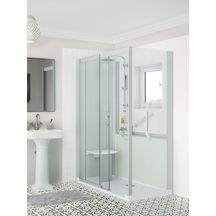Cabine de douche Kinemagic 6 160x90 angle coulissant mixte transparent serenite thermo r�f K61609AMCTN3GSX