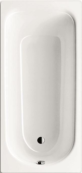 Baignoire Acier Eurowa 170x70cm Sans Pied Percee 2 Trous Blanc