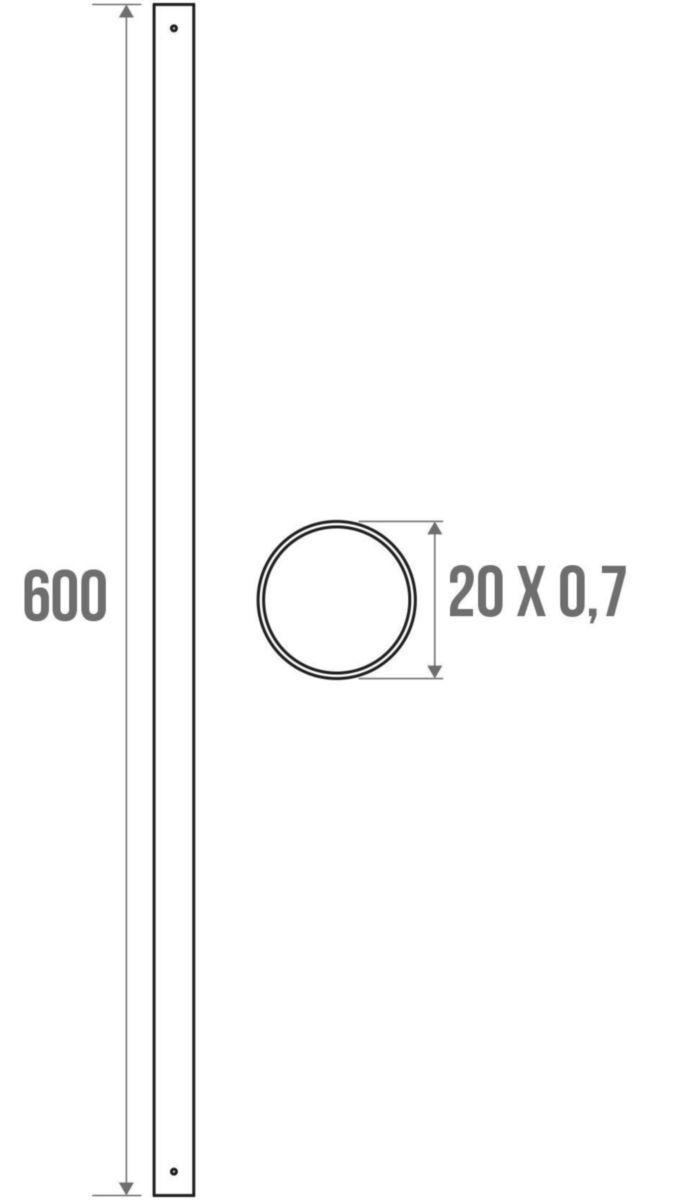 Tube droit de 60 cm réf. 004823