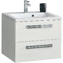 Meuble sous vasque SEDUCTA 60 cm 2 tiroirs blanc brillant