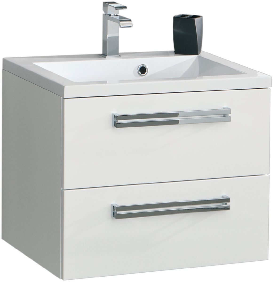 Meuble sous vasque SEDUCTA 60 cm 2 tiroirs gris perle ALTERNA