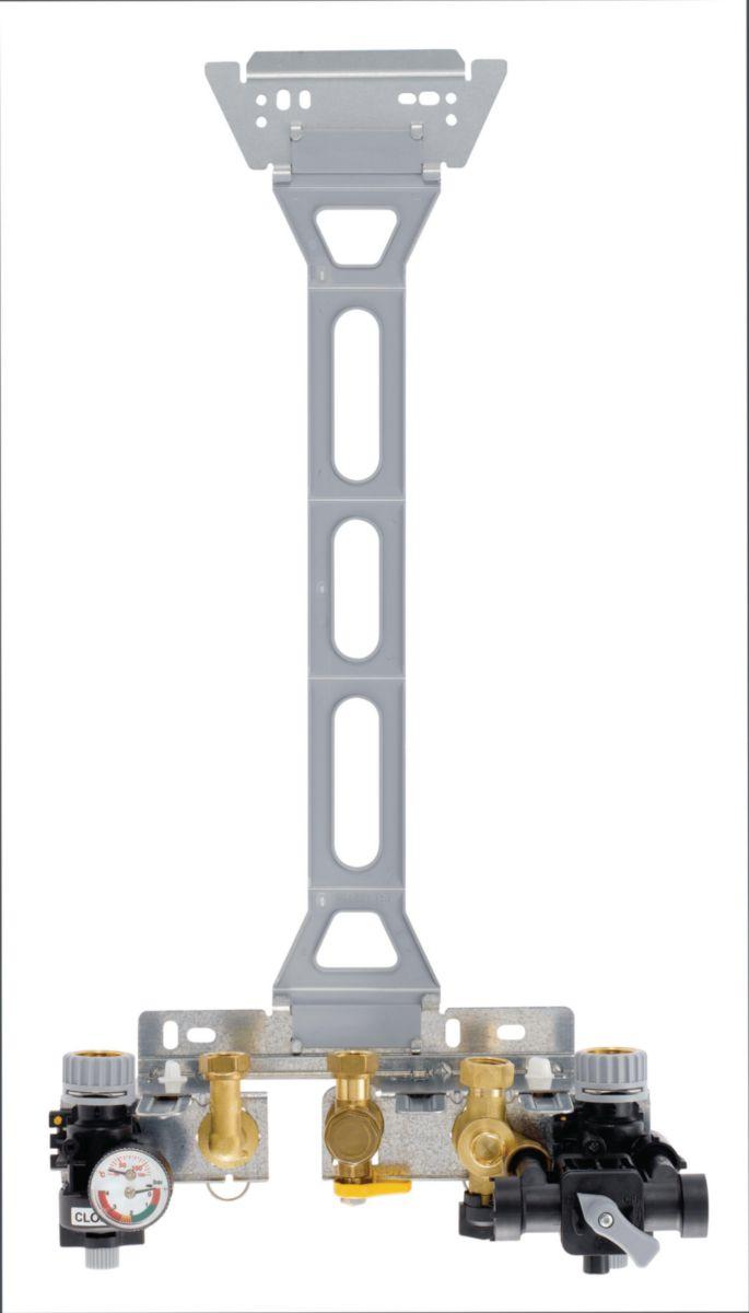 Réhausse pour dosseret de montage 80 mm (Saunier Duval, Chaffoteaux, Celtic, ELM Leblanc) colis HG104 réf. 100014501
