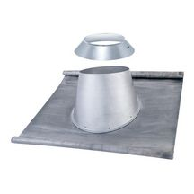 Solin et larmier embase plomb totale toit tuile 25-45° Inox DP diamètre 180mm Réf 197618