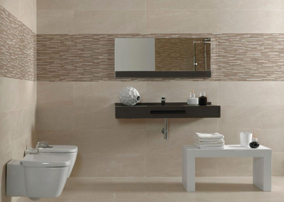 Faience salle de bain beige for Faience salle de bain nature