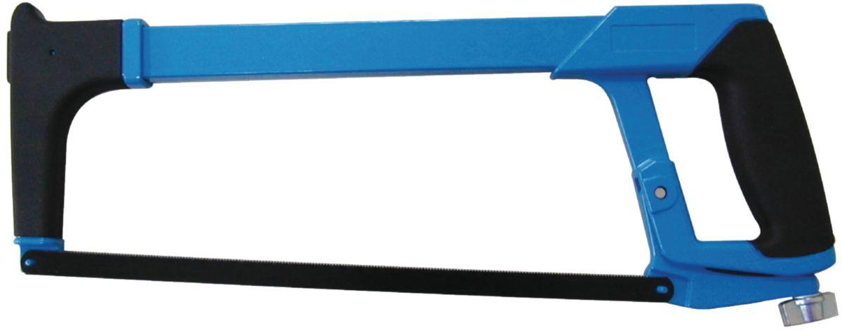 Monture scie à métaux NOVIPro poignée revolver lame orientable avec magasin de lames 145x395 rouge
