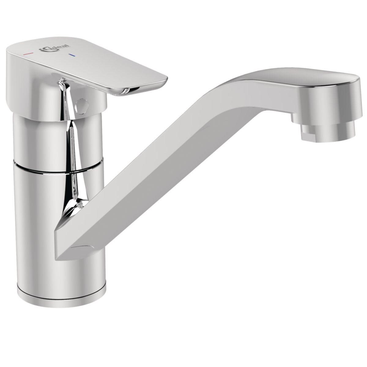 Mitigeur évier kheops s tab c3 chromé réf b0739aa ideal standard sanitaire brossette