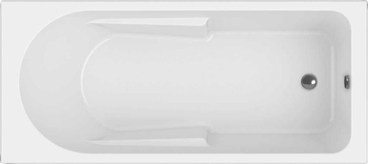baignoire rectangulaire concerto 3 170 x 80 cm acrylique blanc alterna. Black Bedroom Furniture Sets. Home Design Ideas