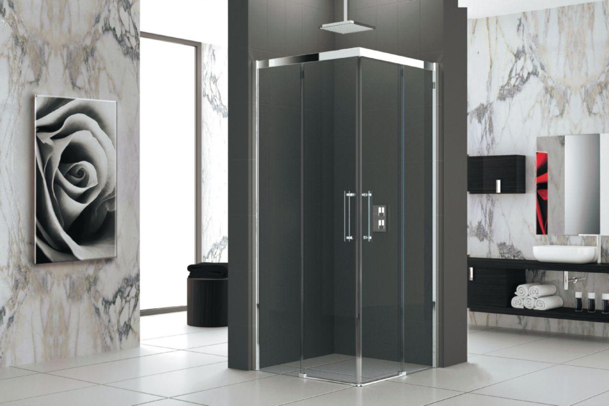 Paroi de douche verre 80 cm gauche Réf. ROSEA78LS-1K