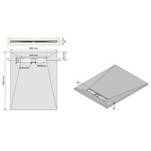 receveur prisma slate noir 100 x 80 r f 53008874 acquabella construplas sanitaire cedeo. Black Bedroom Furniture Sets. Home Design Ideas