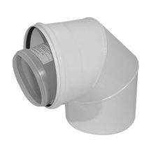 Coude PPTL/GALVA 100/150 blanc 45° 224403