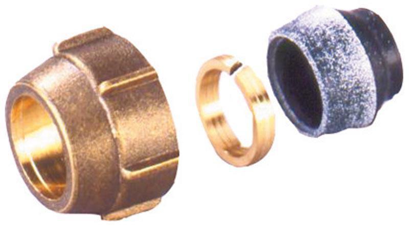 Raccord à visser pour tube 18x1 pour raccordement des tubes cuivre au collecteur Réf 12653381001
