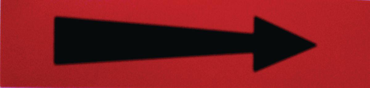 Etiquette flèche rouge 200x50x10mm paquet de 5 pièces Réf 215549