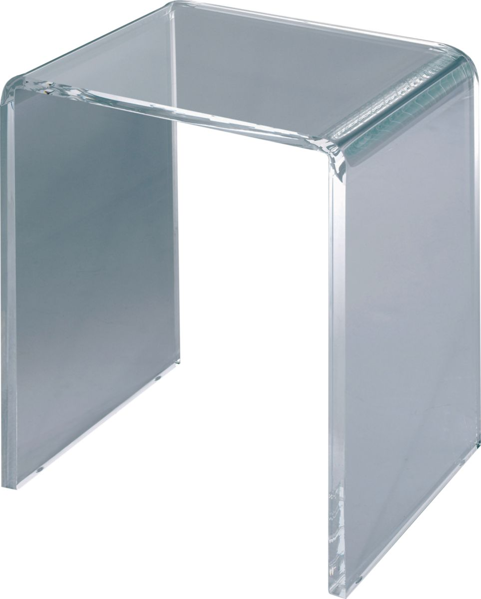 sige indpendant transparent pluriel rf l29pl800 leda sanitaire brossette - Tabouret De Douche Transparent