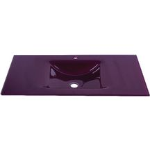 Plan SEDUCTA 91 cm, vasque simple, sans trop-plein, aubergine