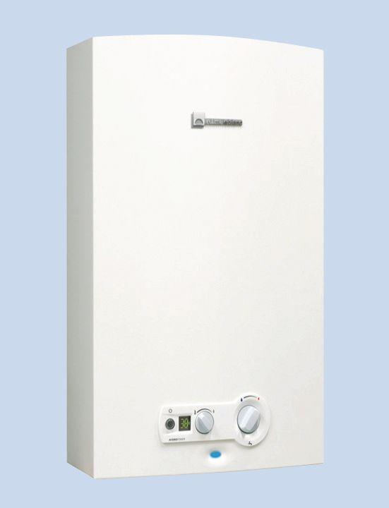 Chauffe-bains gaz ONDEA COMPACT HYDROPOWER à tirage naturel sans veilleuse 10 litres BP LC11PVHYB Classe énergétique A réf. 7701431570