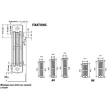 el ment de radiateur en fonte horizontal dune mod le d 4. Black Bedroom Furniture Sets. Home Design Ideas