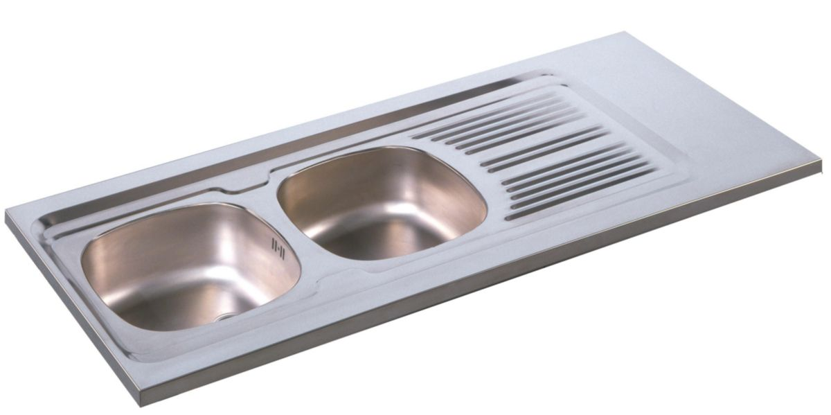 Meuble evier inox trendy excellent poubelle coulissante for Meuble evier moderna