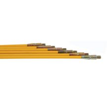 KIT de ramonage composé de 6 cannes FIBROFLEX Ø 09 long 1,50m + un hérisson PVC Ø125mm Réf. 1401