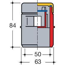 clapet a rateur quilibreur de pression sans dta 1sav65 pvc gris 63 50 mm h 84 mm. Black Bedroom Furniture Sets. Home Design Ideas