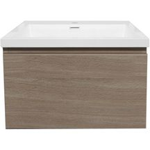 meuble sous vasque primeo 70 cm suspendu 2 tiroirs bois alterna sanitaire brossette. Black Bedroom Furniture Sets. Home Design Ideas