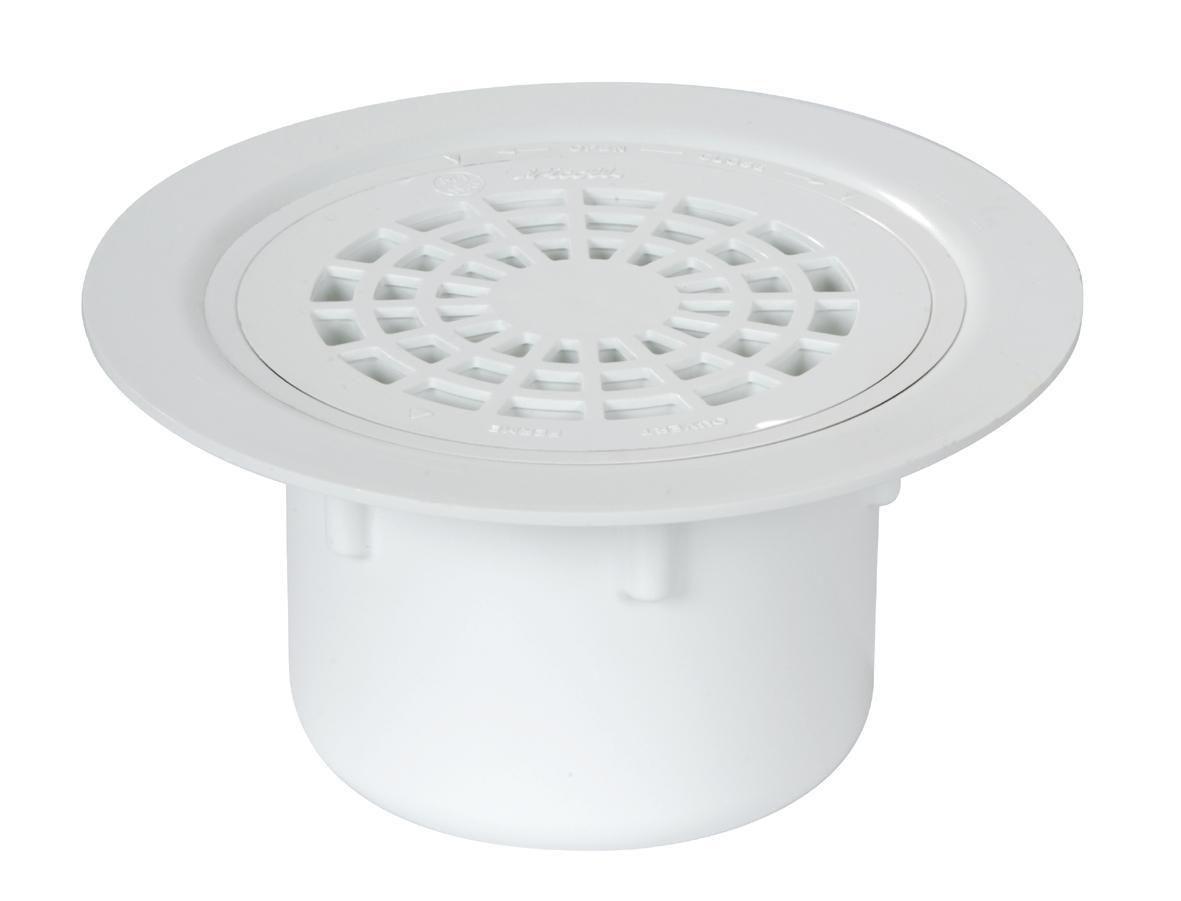 NICOLL - Siphon sol plastique avec grille PVC sortie verticale